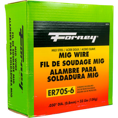 """Forney® ER70S-6 Mild Steel Solid MIG Welding Wire - .030"""" - 33 LBS. Spool"""