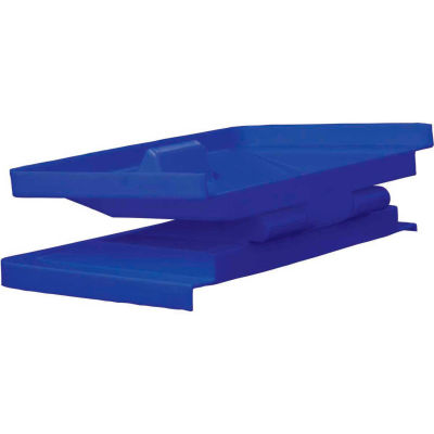 Royal Basket-Poly Hinged Lid, 12 Bu, Blue - R12-BLX-LDN