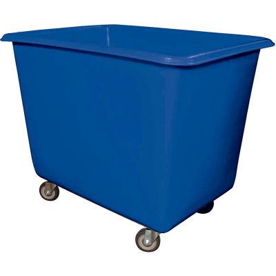 Royal Basket-Poly Truck, 14 Bu, Blue, Metal Base, All Swivel - R14-BLX-PGA-4UNN