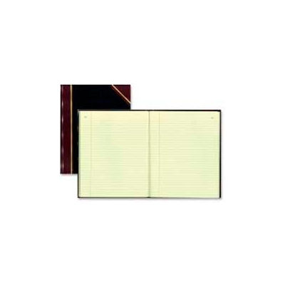 """Rediform® Record Book, Faint Ruled, 8-3/8"""" x 10-3/8"""", Black Cover, 300 Pages/Pad"""