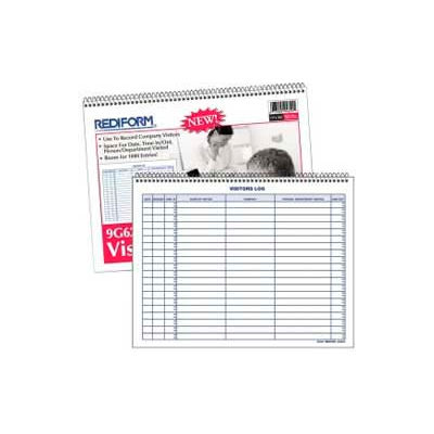 "Rediform® Visitors Log Book, 1000 Entries, 11"" x 8-1/2"", White, 50 Pages/Book"
