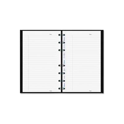 MiracleBind Notebook, College/Margin, 11 x 9-1/16, White, 75 Sheets, Black Cover