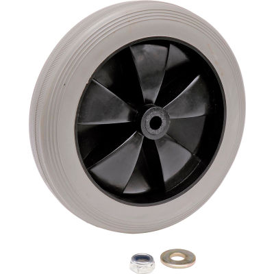 """Global Industrial™ Replacement 8"""" Rear Wheel for Janitor Cart (Models 603574, 603590)"""