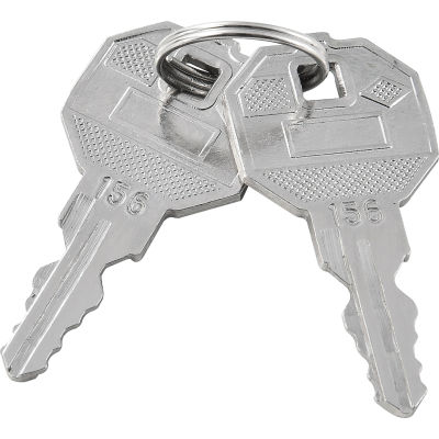 Replacement Keys For Inner Door of Global Industrial™ Narcotics Cabinet 436952, 2pcs Key# 156
