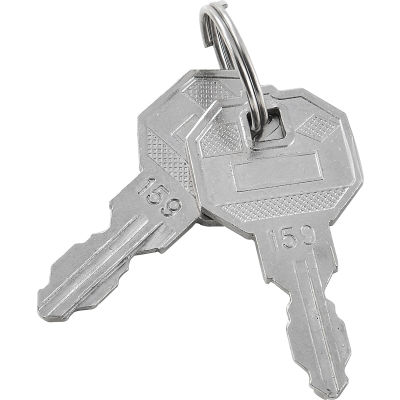 Replacement Keys For Outer Door of Global Industrial™ Narcotics Cabinet 436953, 2pcs Key# 159