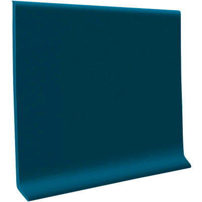 "Thermoplastic Rubber Wall Base 4"" x 48"" Blue"