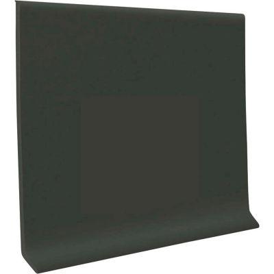 "Pinnacle Rubber Wall Base 4"" x .125"" x 48"" Black Brown"