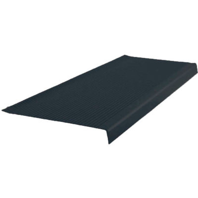 "Vinyl Light Duty Ribbed Stair Tread Square Nose 12.41"" x 42"" Black"