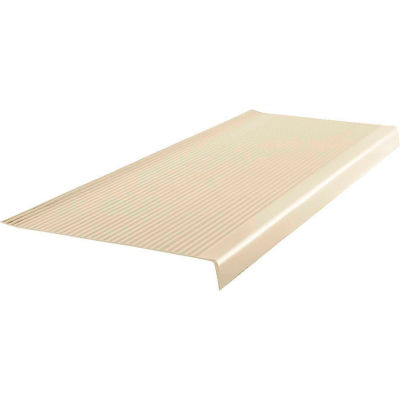 """Vinyl Light Duty Ribbed Stair Tread Square Nose 12.41"""" x 42"""" Almond"""