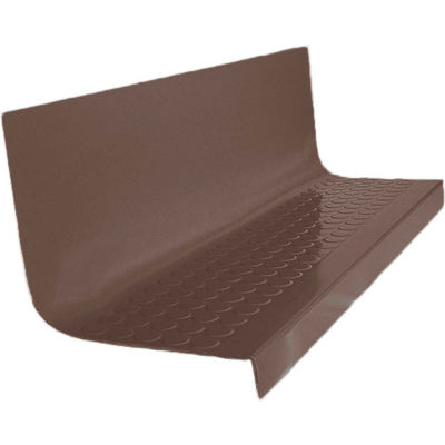 """Rubber Raised Circular Stair Tread Square Nose 20.44"""" x 42"""" Light Brown"""