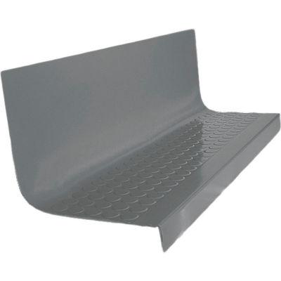 "Rubber Raised Circular Stair Tread Square Nose 20.44"" x 42"" Dark Gray"