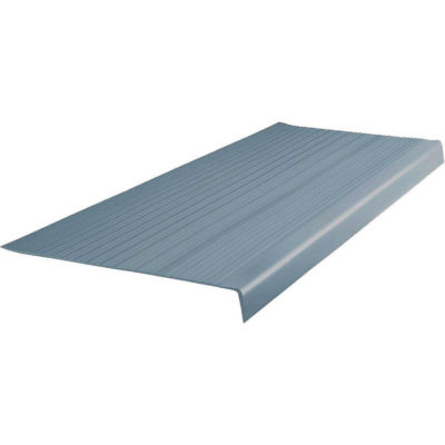 """Vinyl Heavy Duty Ribbed Stair Tread Square Nose 12.5"""" x 48"""" Steel Blue"""