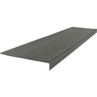 """Rubber Low Circular Profile Square Nose 12.5"""" x 48"""" Charcoal"""