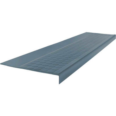 """Rubber Low Circular Profile Square Nose 12.5"""" x 48"""" Steel Blue"""