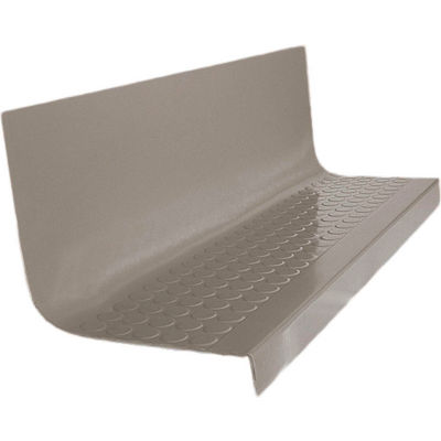 """Rubber Raised Circular Stair Tread Square Nose 20.44"""" x 48"""" Pewter"""