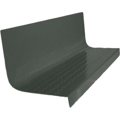"Rubber Raised Circular Stair Tread Square Nose 20.44"" x 54"" Black Brown"