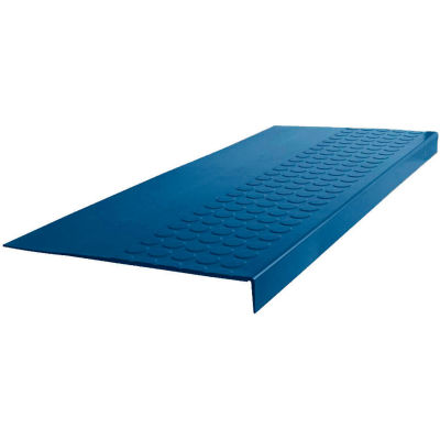 """Rubber Raised Circular Stair Tread Square Nose 12.06"""" x 60"""" Deep Navy"""