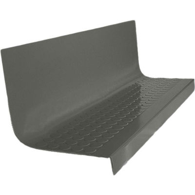 """Rubber Raised Circular Stair Tread Square Nose 20.44"""" x 72"""" Charcoal"""