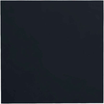 """Smooth Rubber Tile 19.69"""" x 19.69"""" x .125"""" Black"""