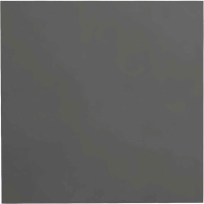 """Smooth Rubber Tile 19.69"""" x 19.69"""" x .125"""" Charcoal"""