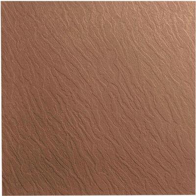 "Slate Design Rubber Tile 19.69"" x 19.69"" x .125"" Taupe"
