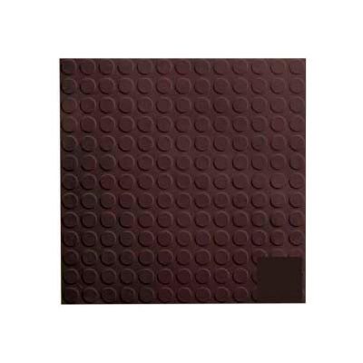 Rubber Tile Low Profile Circular Design 50cm - Brown
