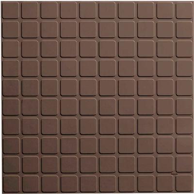 "Square Design Rubber Tile 19.69"" x 19.69"" x .125"" Light Brown"