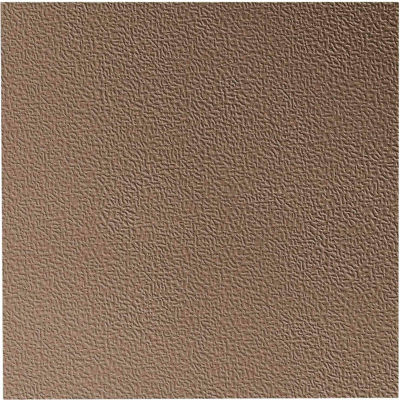 """Hammered Design Rubber Tile 19.69"""" x 19.69"""" x .125"""" Fawn"""