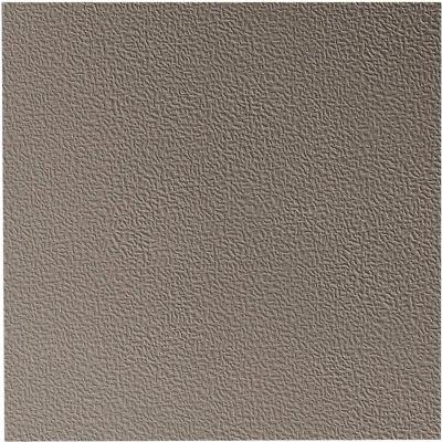 """Hammered Design Rubber Tile 19.69"""" x 19.69"""" x .125"""" Pewter"""
