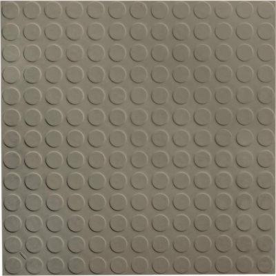 "Raised Circular Design Rubber Tile 19.69"" x 19.69"" x .125"" Lunar Dust"