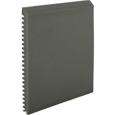 """Pinnacle Plus 75 Series Rubber Wall Base 6-pieces 3"""" x .375"""" x 8' Charcoal"""