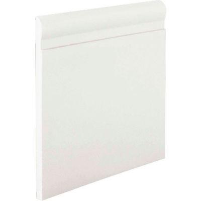 """Pinnacle Plus 85 Series Rubber Wall Base 1-coil 4.25"""" x .250"""" x 60' White"""