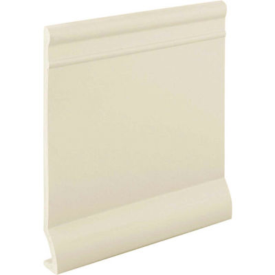 "Pinnacle Plus 90 Series Rubber Wall Base 1-coil 4"" x .125"" x 60' Ivory"