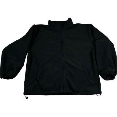 Petra Roc Fleece Work Jacket W/2 Zipped Slash Pockets, Elastic Cuffs, Black, Size XL