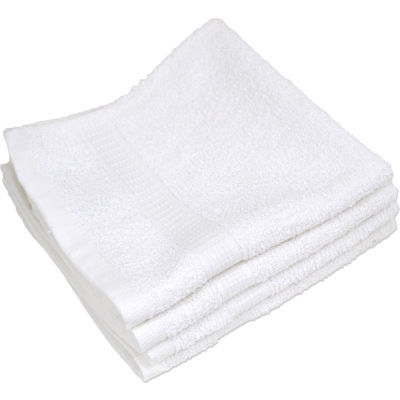 "R&R Textile - Spa & Comfort Wash Cloth - 13"" x 13"" - White - 12 Pack"