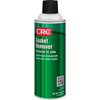 CRC Gasket Remover / Paint and Decal Remover, 12 Wt Oz, Aerosol, Organic Solvents, Light Grey - Pkg Qty 12