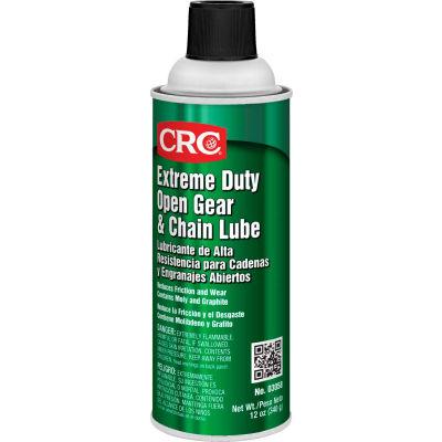 CRC Extreme Duty Open Gear and Chain Lube 12 Wt Oz, Aerosol, Petroleum Oil, Black - Pkg Qty 12