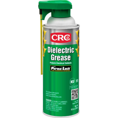 CRC Dielectric Grease, 10 Wt Oz, Aerosol, Silicone, Translucent to Opaque - Pkg Qty 12