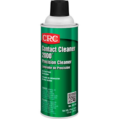 CRC Contact Cleaner 2000® Precision Cleaner, 13 Wt Oz, Aerosol, HFC, Clear Colorless - Pkg Qty 12