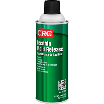 CRC Lecithin Mold Release, 12 Wt Oz, Aerosol, Lecithin, Clear Oily Colorless - Pkg Qty 12