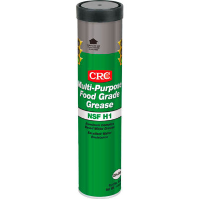 CRC Multi Purpose Food Grade Grease, 14 Wt Oz, Cartridge, Aluminum Complex, White - Pkg Qty 10