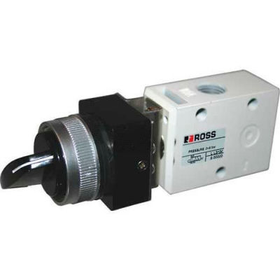 "ROSS® Pneumatic Selector Switch Valve 1223B2SLB, 1/4"" NPT"