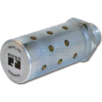 "ROSS® MUFFL-AIR® Pneumatic Silencer 5500A2003, 1/4"" NPT, Male Thread"