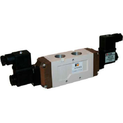 ROSS 5/3 Closed Center Double Solenoid Controlled Directional Valve, 110VAC, 9577K1010W