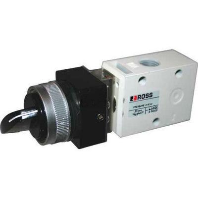 "ROSS® Pneumatic Selector Switch Valve D1223B1SLB, 1/8"" BSPP"