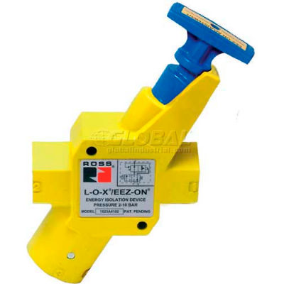 """ROSS® Manual Pneumatic Lockout Valve With Soft Start Y1523B6102, 1"""" NPT"""