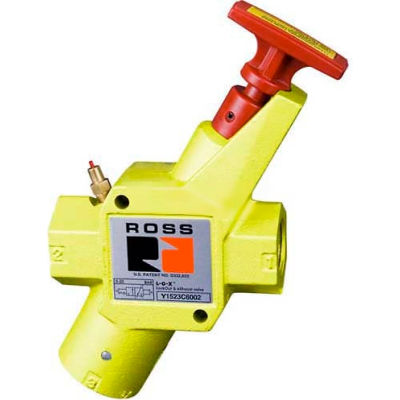 """ROSS® Manual Pneumatic Lockout Valve With 3/4"""" Exhaust Y1523C3002, 3/8"""" NPT"""