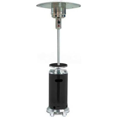 Hiland Patio Heater HLDS01-SSBLT Propane 48000 BTU With Table Black/Silver