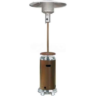 Hiland Patio Heater HLDS01-SSHGT Propane 48000 BTU With Table Bronze/Silver