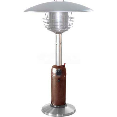Hiland Patio Heater HLDS032-BB Propane 11000 BTU Tabletop Hammered Bronze/Stainless Steel